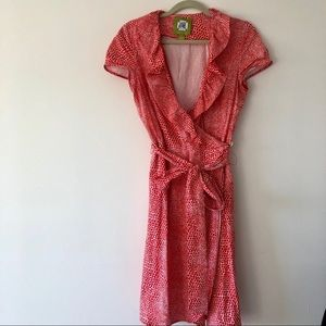 Elizabeth McKay wrap dress 100% cotton size 10